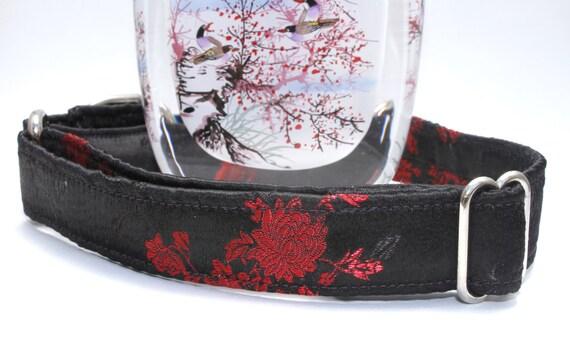 Silk Flowers Dog Collar - Martingale & Buckle 3/4 - 2 Inch Width - XS - XXL
