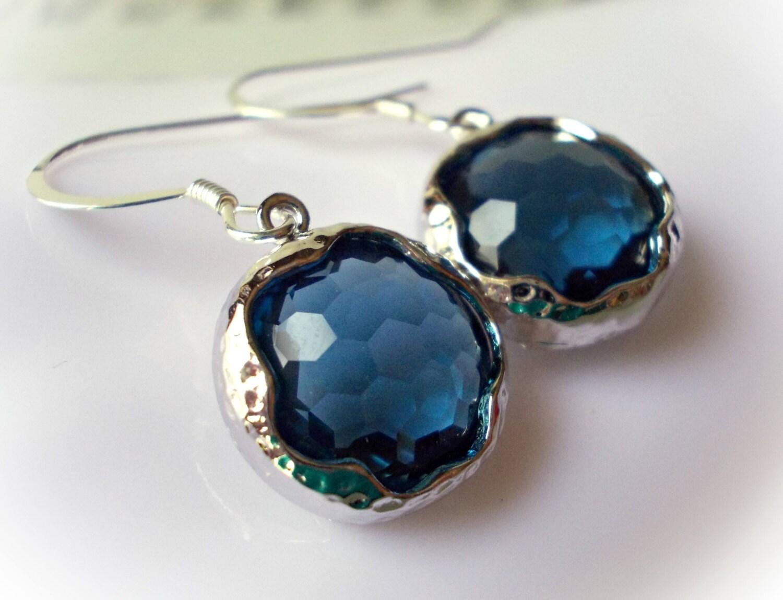 Montana sapphire earrings September birthstone blue