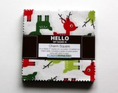 """SALE 5"""" Charm Pack JINGLE 42 Squares CHS-323-42 by Ann Kelle from Robert Kaufman Fabric"""