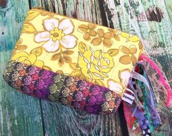 Zipper Pouch Floral Fringe