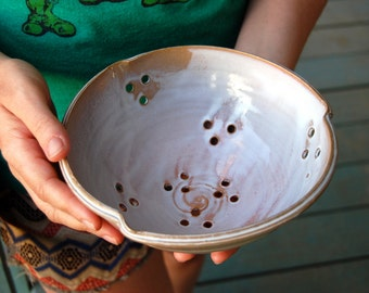 Berry Bowl Colander in Shale - Made to Order