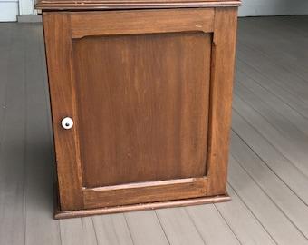 Medicine Display Wall Cabinet Cupboard Wood Antique