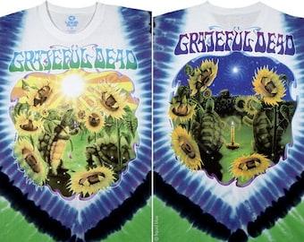 Grateful Dead Sunflower Terrapin Tie Dye Short Sleeve Shirt  Sizes Large XL    hippie SYf  furthur  Deadhead