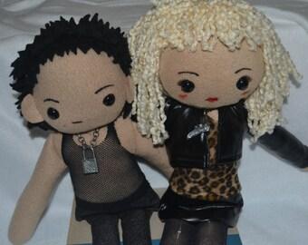 Sid and Nancy plush dolls Sid Vicious Sex Pistols