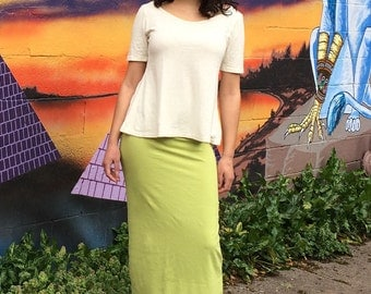 Summer Max Skirt // Softest Organic Cotton, Hemp & Lycra Coolness // Eco Fashion