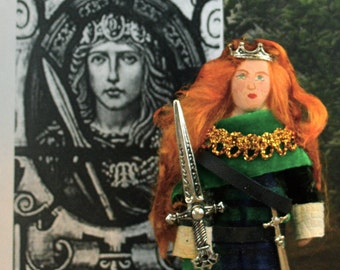 Boudica the Celtic Warrior Queen Historical Art Collectible Doll Miniature