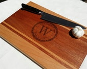Engraved Cutting Board - Personalized, Wedding Gift - Multiple Sizes - Monogrammed -Beech & Mahogany