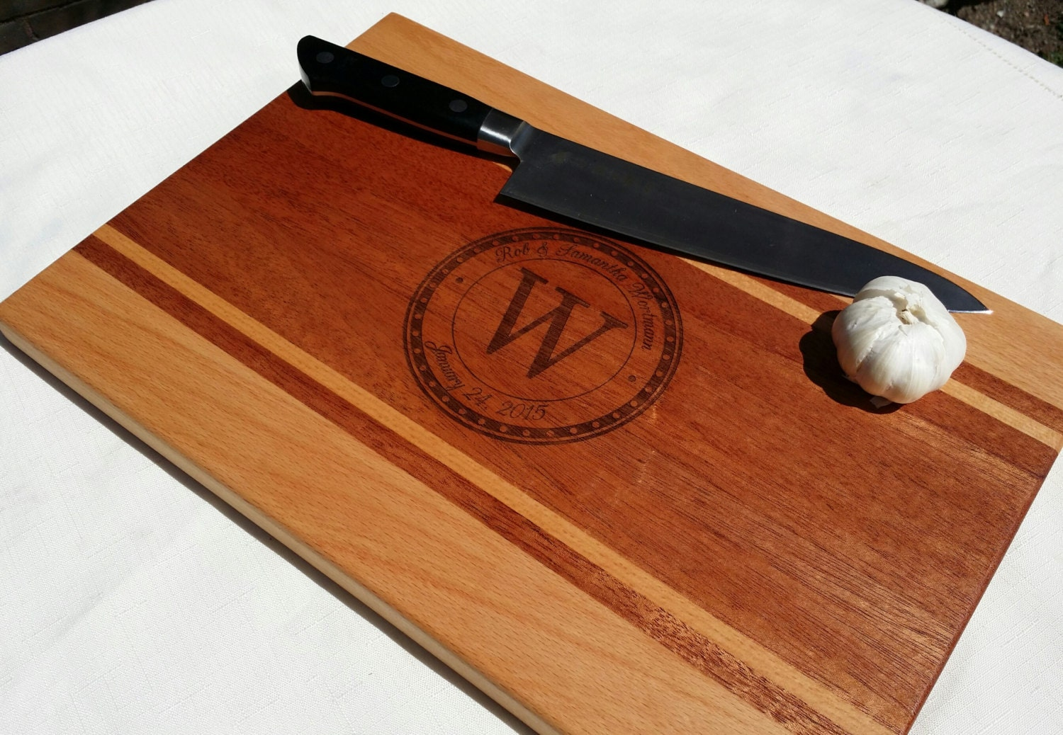 Cutting Board Engraved Personalized Wedding Gift By