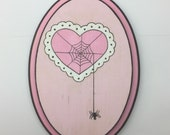Lacie hearts and spiders - Wall Art