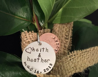 Lucky Penny Handstamped Bridal Bouquet Charm