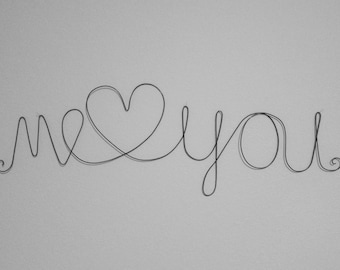 ME & YOU Love Wire Words Wall Hanging