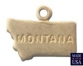 Raw Brass Tiny Montana State Charm Drops 11x9mm (6) chr201UU
