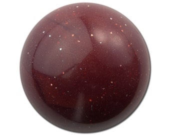 Vintage Burgundy Marbled Acrylic Domed Cabochons 30mm (2) cab814C