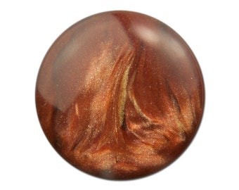 Vintage Rust Red with Gold Metallic Cabochons 15mm (4) cab739B