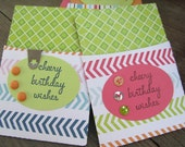 Cheery Birthday Wishes Gift Card Holders. Set of 2. Party. Celebration. Birthday.