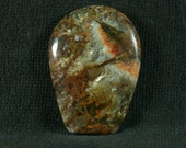Linda Marie Plume Agate Freeform Cabochon from Oregon 27x37x6mm