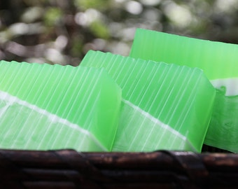 Coco Lime Soap - Handmade Shea Butter and Glycerin Soap // Gifts for Her