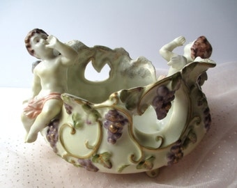 Vintage Cherub Decorative Bowl - So Charming