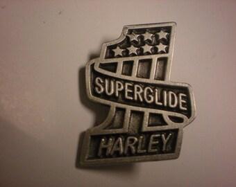 vintage harley davidson pin. SUPERGLIDE FANTASTIC