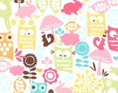 Michael Miller Forest Life Watermelon Flannel Fabric, 1 yard