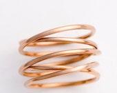 Wrap Ring, 14k rose gold fill