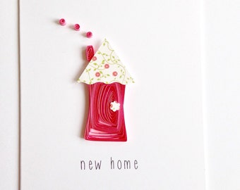 Quilled new home greeting card // quilled house // made in Canada