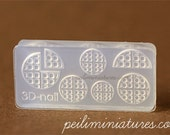 Miniature Silicone Mold - Waffle Mold