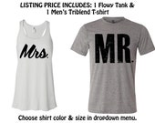 MR and MRS SHIRTS. Mrs Shirt. Mr Shirt. Honeymoon shirts.
