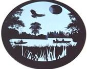 Black Silicone Fishing Table Mat, Table Trivet, Kitchen Hot Pad, Table Decor, Office Decor