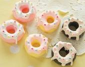6 pcs Icing Doughnut Cabochon (22mm23mm) 3 colors CD371