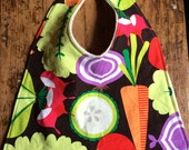 Organic Cotton Bib.  Veggies