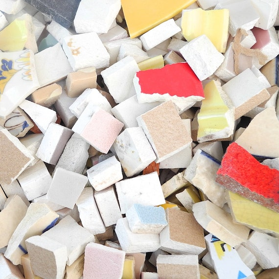 Hand cut tiles and ceramic pieces for diy mosaic crafts by for Mosaic pieces for crafts