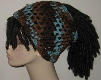 Earth and Sky Crochet Dread Tube/Dread Sock/Dreadband