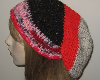 One of a Kind Slouchy Beanie Dread Tam Hat