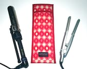 Flat Iron Case/Curling Iron Case, Mod Ikat, Red and Pink