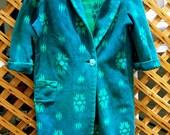 Vintage BEACON BLANKET ROBE Southwestern style Green