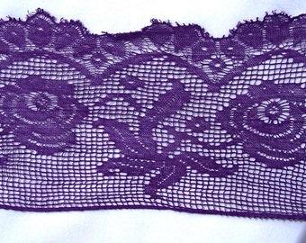 Vintage Antique Lace Bodice Accent Purple Costume Accessory