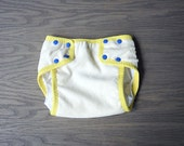 Waterproof diaper cover, organic cotton training underwear for baby, toddler size Medium natural organic cotton velour