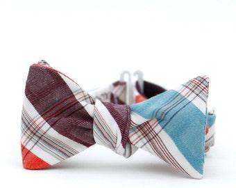 favorite plaid freestyle bow tie for the little guy