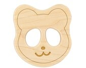 Wood Toy Panda Teether, personalized wooden baby toy