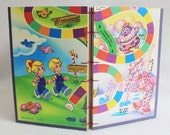 Candy Land Journal Recycled Game Board Book by PrairiePeasant