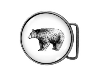 Belt buckle Bear Antiqued Silver Gifts for him Gifts for her