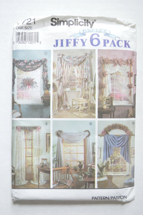 1990s uncut simplicity home decorating sewing by angelpress for Home decor 1990s