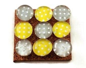 Decorative Funky Push Pins  Thumb Tacks Cork Board Pins  Lemon Meringue (P83)