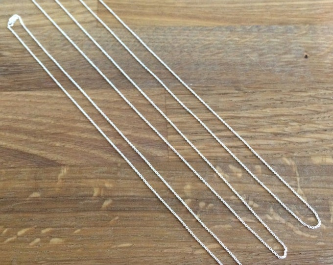 """Sterling Silver Cable Chain - Very Fine - 16"""" Chain, 18"""" Chain, 20"""" Chain"""