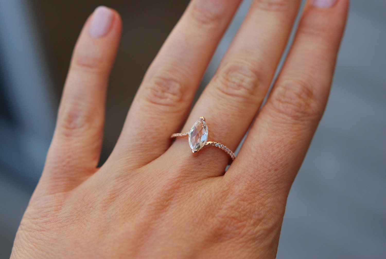 unconventional engagement ring marquise engagement ring rose gold diamond ring engagement ring. Black Bedroom Furniture Sets. Home Design Ideas