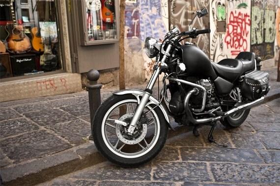 Naples Moto Guzzi  Archival Print