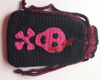 Sugar Skull Tarot Bag Double Drawstring