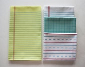 "Yellow Lined ""Paper"" Towel - Decorative Cotton Tea Towel // Legal Pad // Lined Paper // Notebook // Lawyer // Pencil"