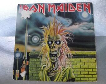 vintage heavy metal iron madien 1980 first pressing vinyl collector